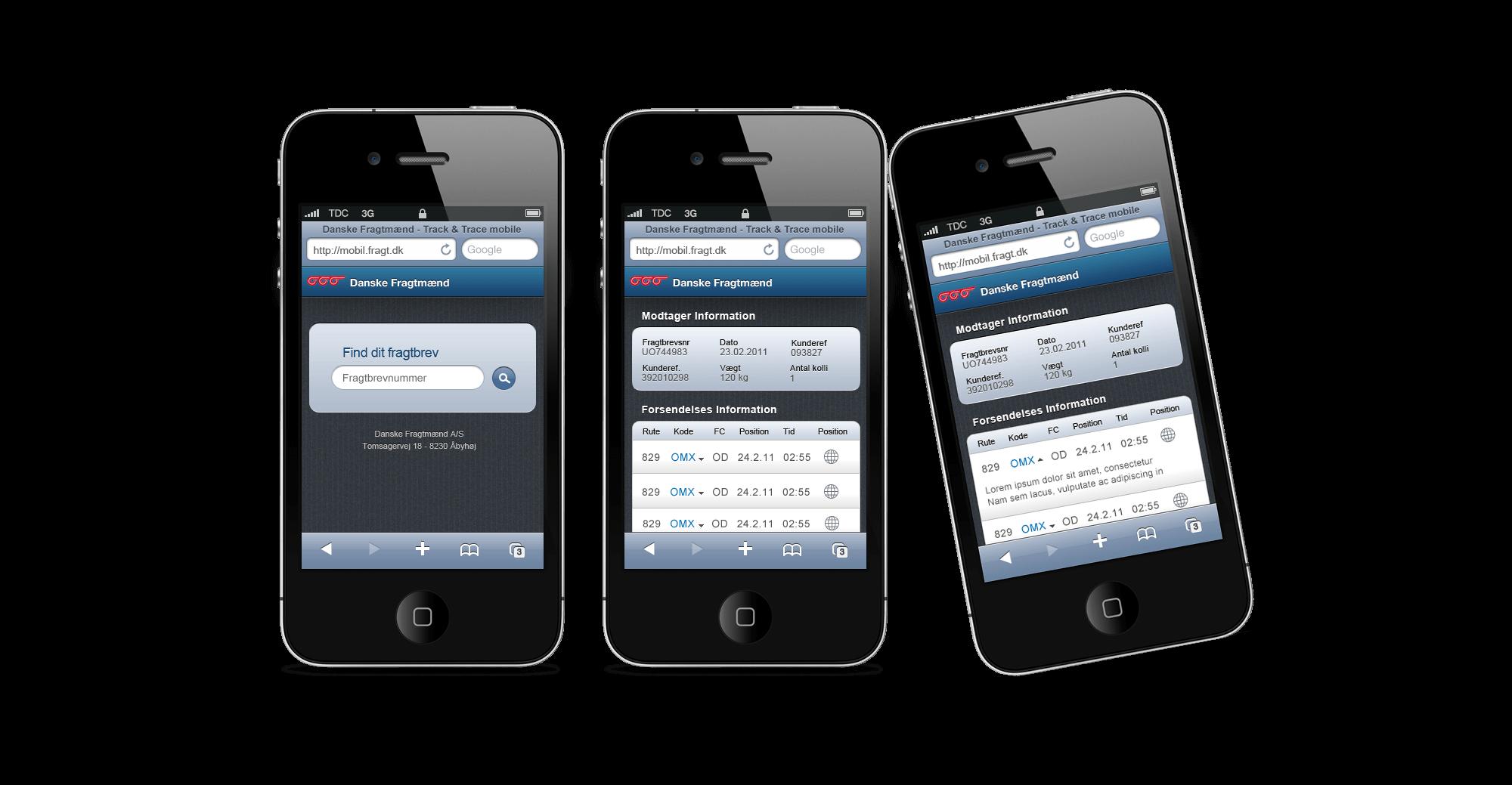 Danske Fragtmænd Mobile Web App